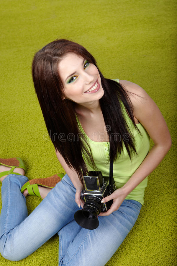 Download Woman With Camera Royalty Free Stock Photos - Image: 13284848