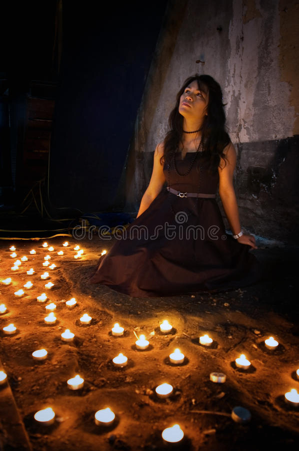 Download Woman with candles stock image. Image of heaven, religion - 11762623