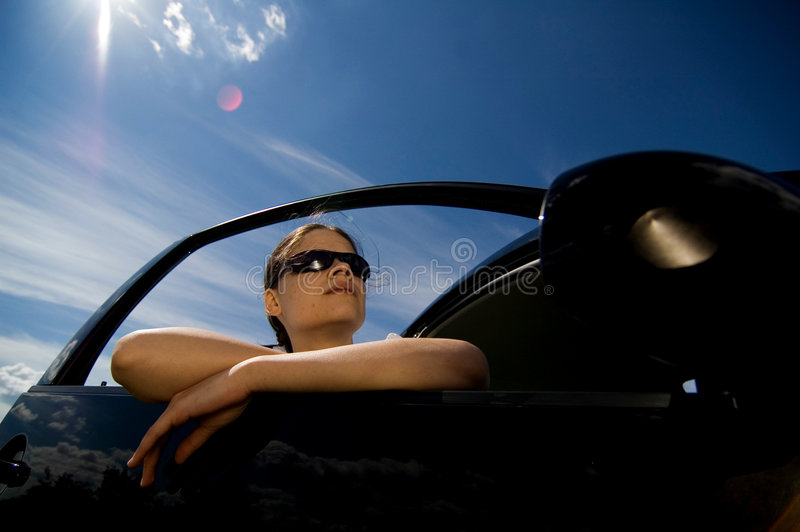 Download Woman in a car 1 stock image. Image of lady, glance, stare - 1421799