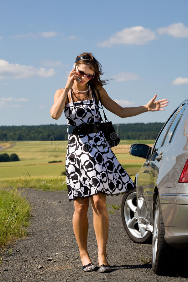 Download Woman by car stock photo. Image of transportation, woman - 10561544