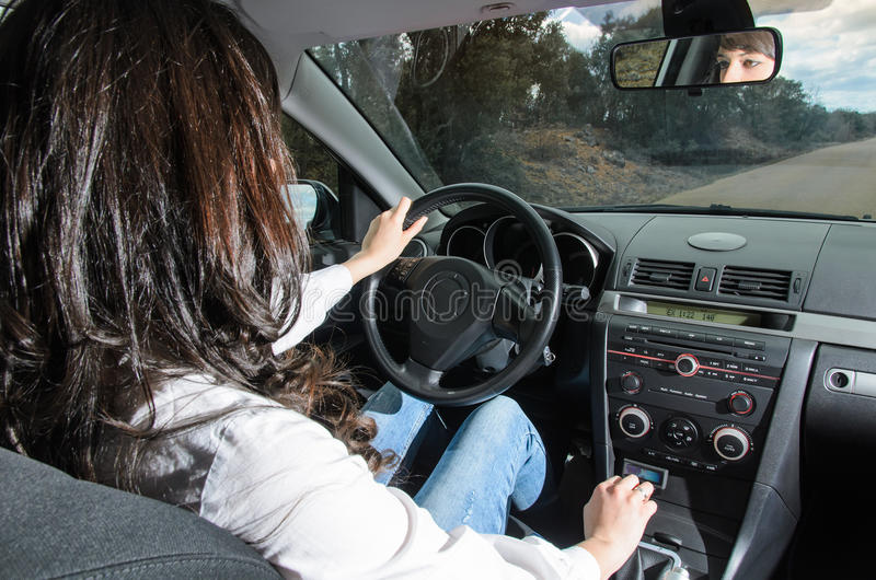 Download Woman in car stock image. Image of inside, gear, vehicle - 26438121
