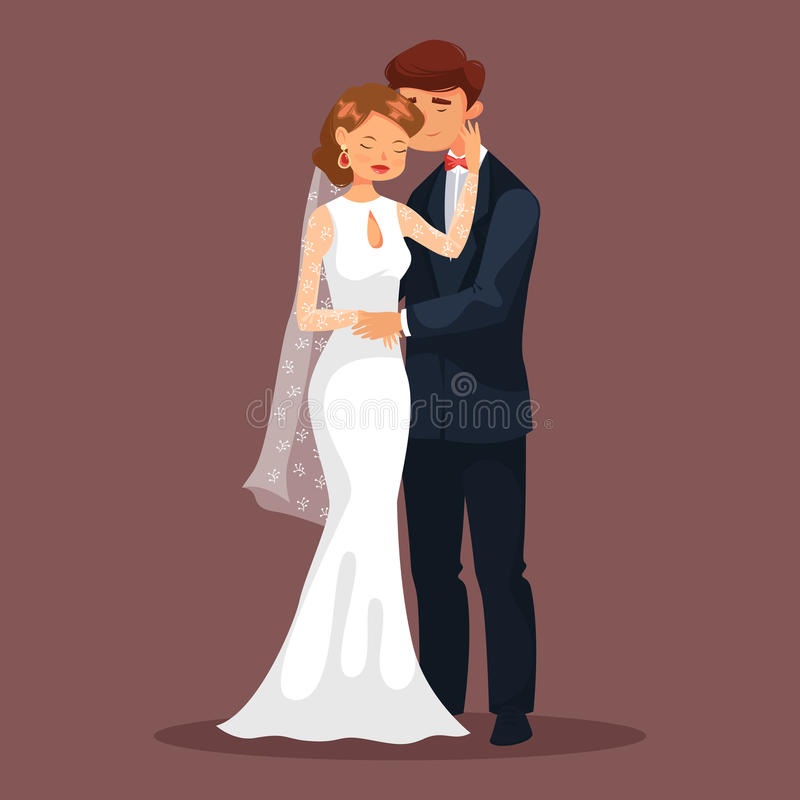Free Woman Caress Her Man At Wedding, Loved Couple Stock Images - 93443644