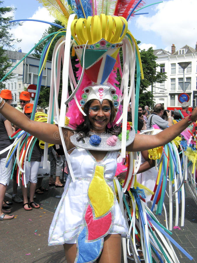 Download Woman on carnaval parade editorial photo. Image of rotterdam - 10833186