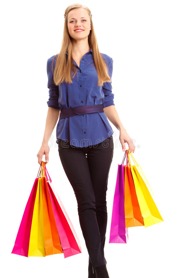 Download Woman Carrying Shopping Bags Stock Image - Image: 28858159