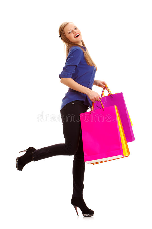 Download Woman Carrying Shopping Bags Stock Image - Image: 28858171
