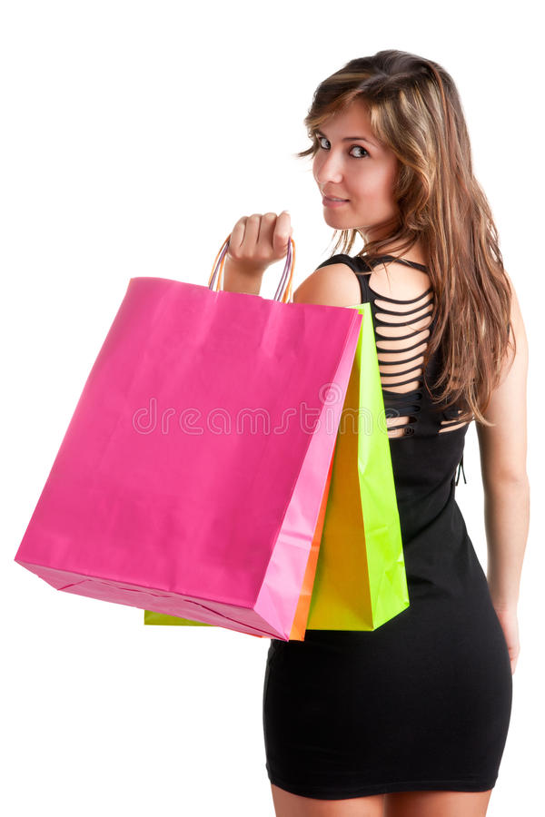Download Woman Carrying Shopping Bags Stock Image - Image: 29195533