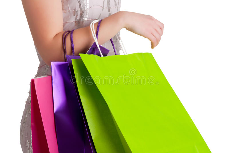 Download Woman Carrying Shopping Bags Stock Image - Image: 29195787