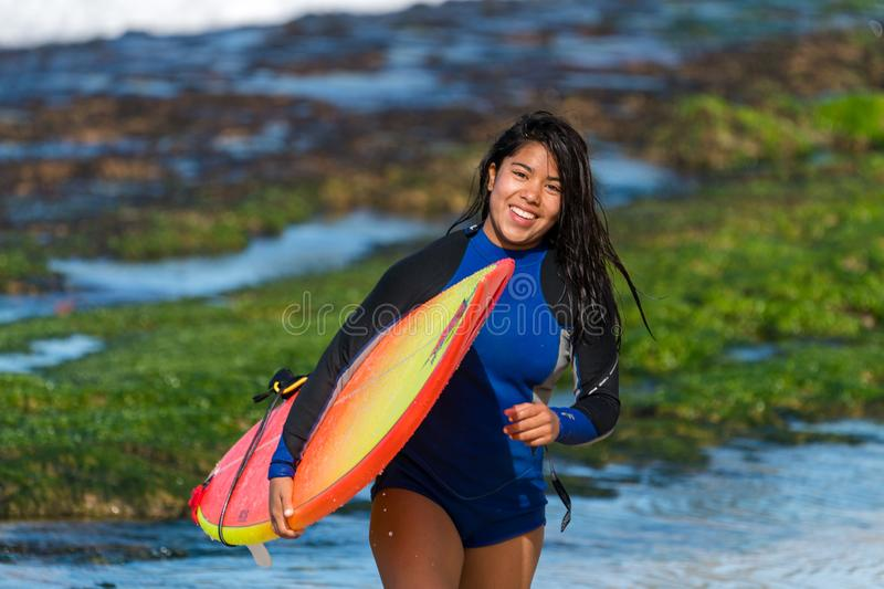 Woman Carrying Surfboard Free Public Domain Cc0 Image