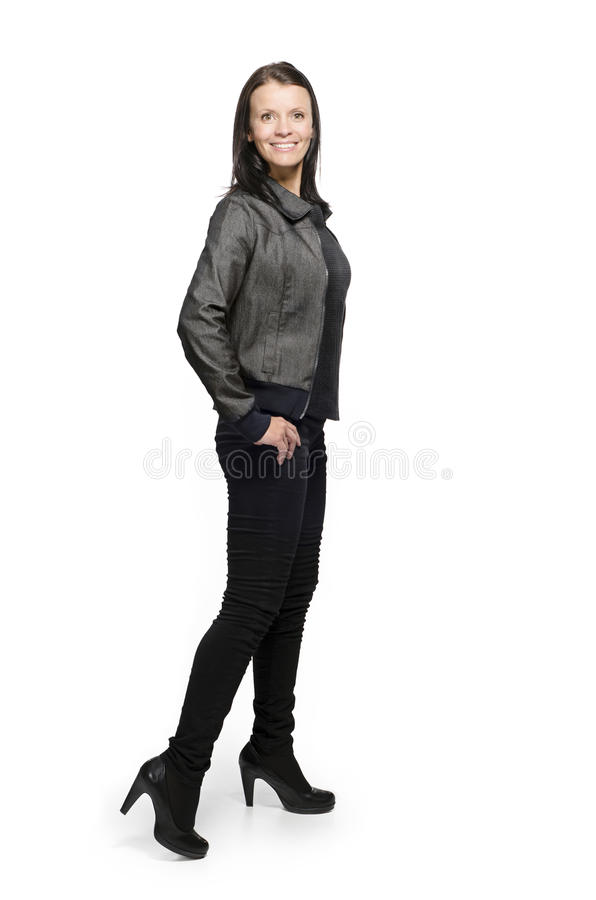 Woman in casual clothing royalty free stock photo