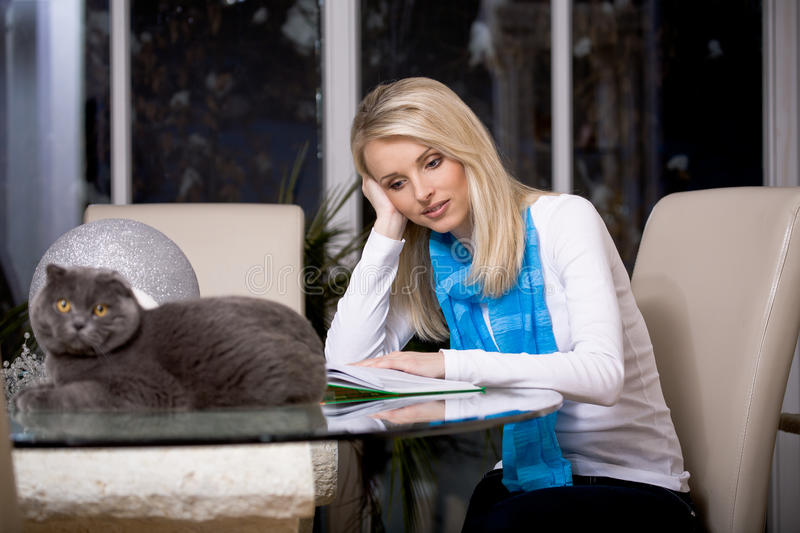 Download Woman and cat stock photo. Image of lifestyles, women - 18732332