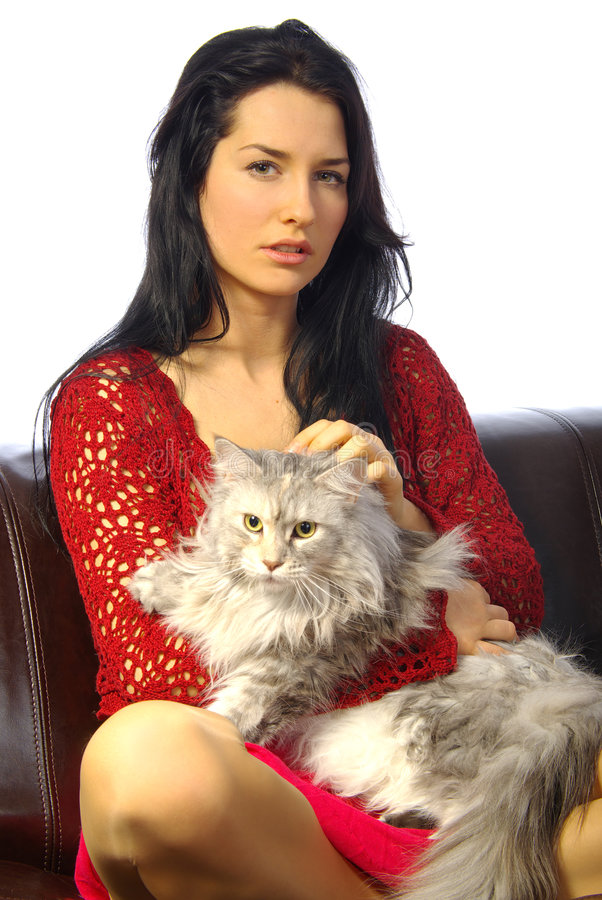 Download Woman With Cat Royalty Free Stock Photos - Image: 2321008