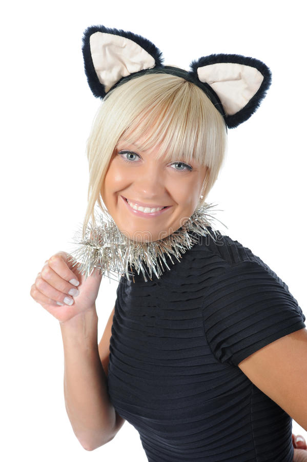 Download Woman With Cat Ears Stock Photo - Image: 16270640
