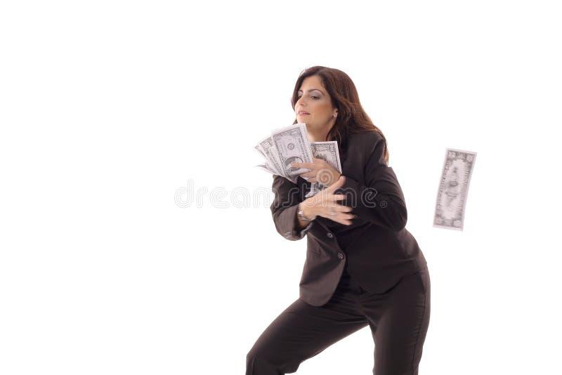 Woman catching money