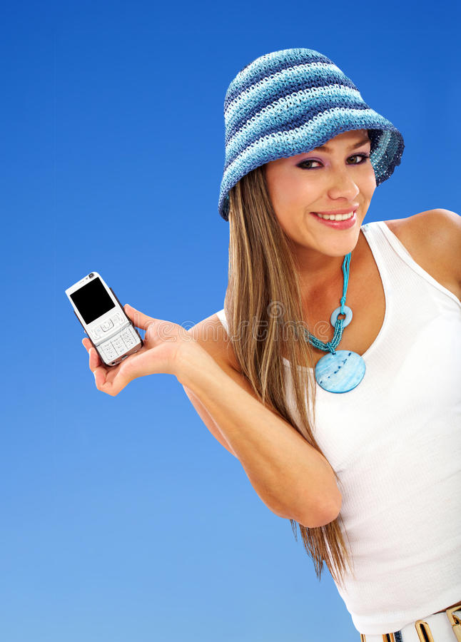 Woman with cel phone