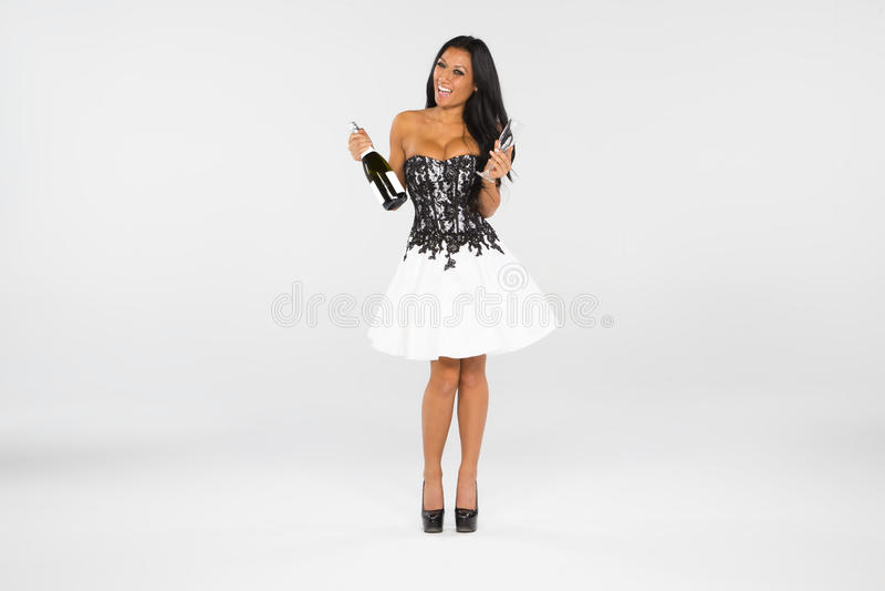 Woman Celebrating stock images