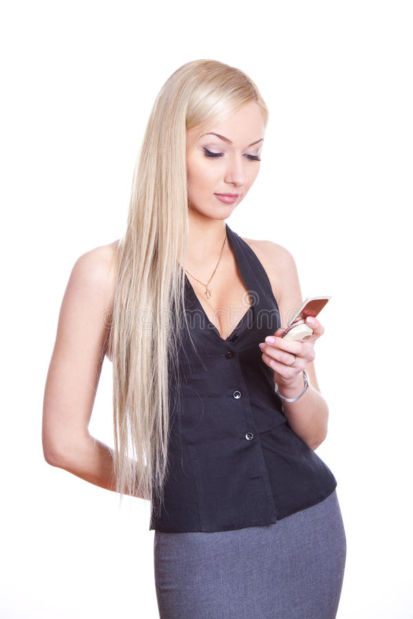 Download Woman with cell phone stock image. Image of background - 18675875