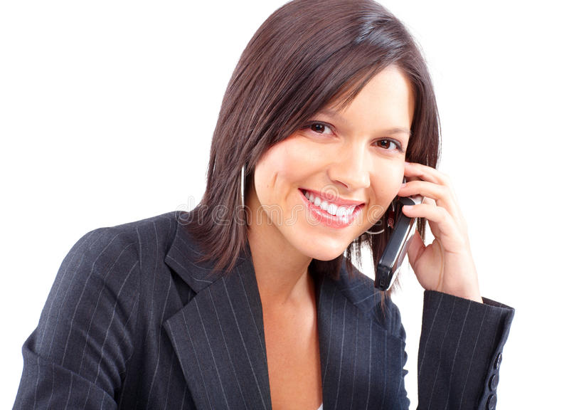 Download Woman with cellular stock photo. Image of people, businesswoman - 12579932