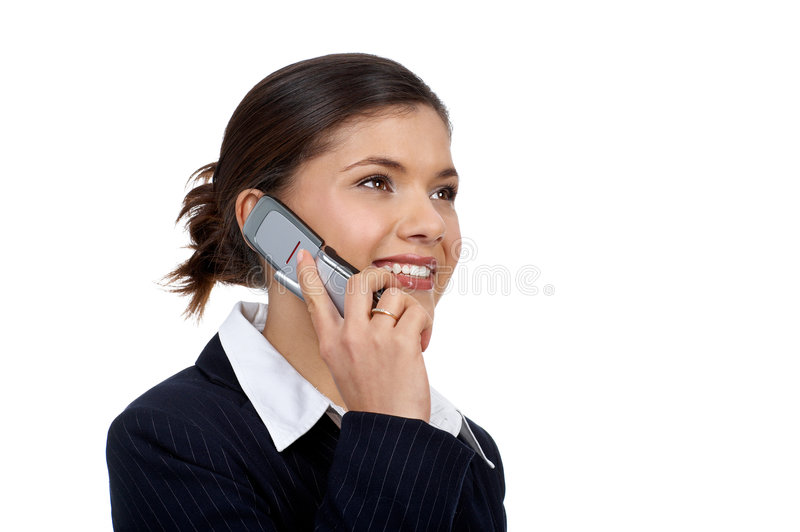 Download Woman with cellular stock photo. Image of white, mobile - 3921372