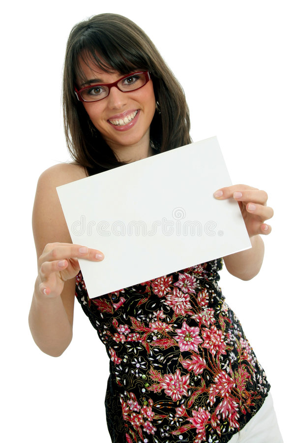 Woman with certificate stock photography