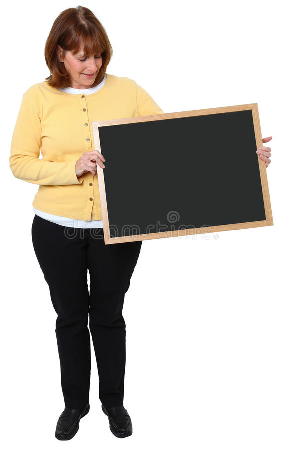 Download Woman With Chalkboard Stock Photography - Image: 11542972