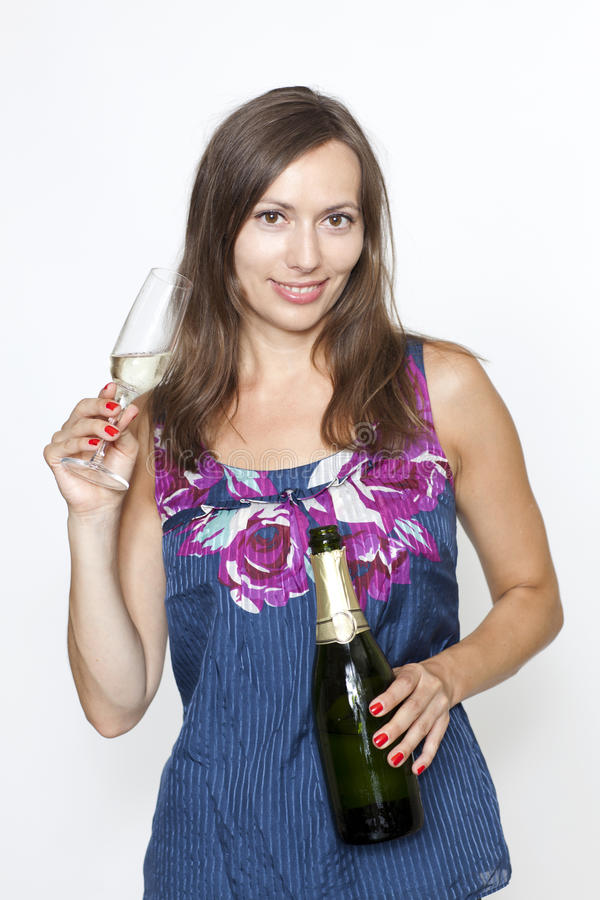 Download Woman With Champagne Stock Photography - Image: 20875532