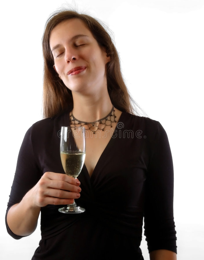 Download Woman with champagne stock photo. Image of celebration - 5427590
