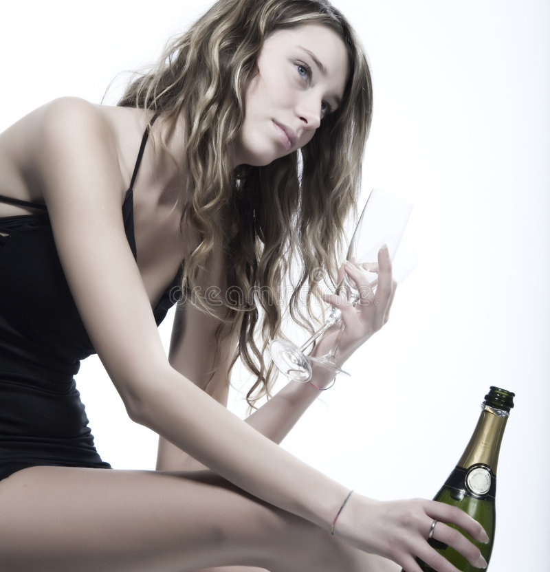 Download Woman with champagne stock image. Image of beauty, attractive - 7208705