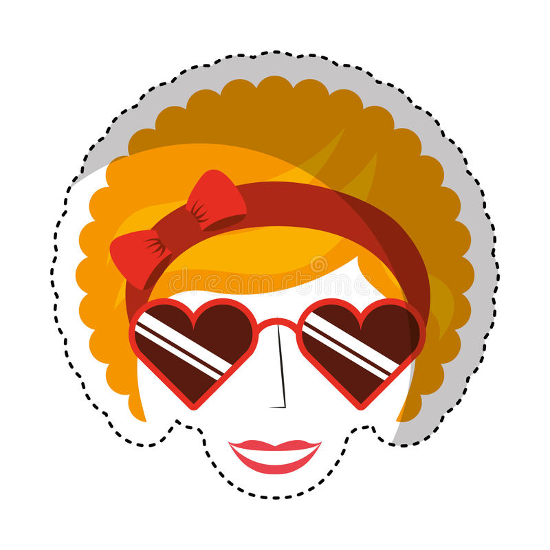 woman character afro style stock illustration