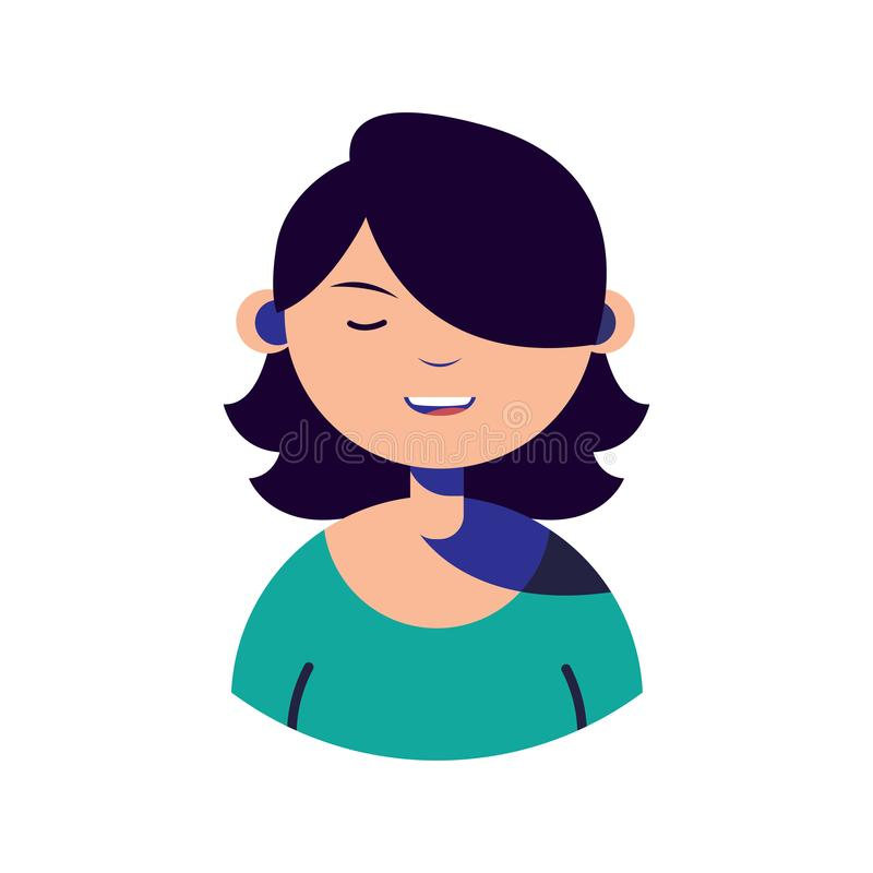 Woman character people flat image stock illustration