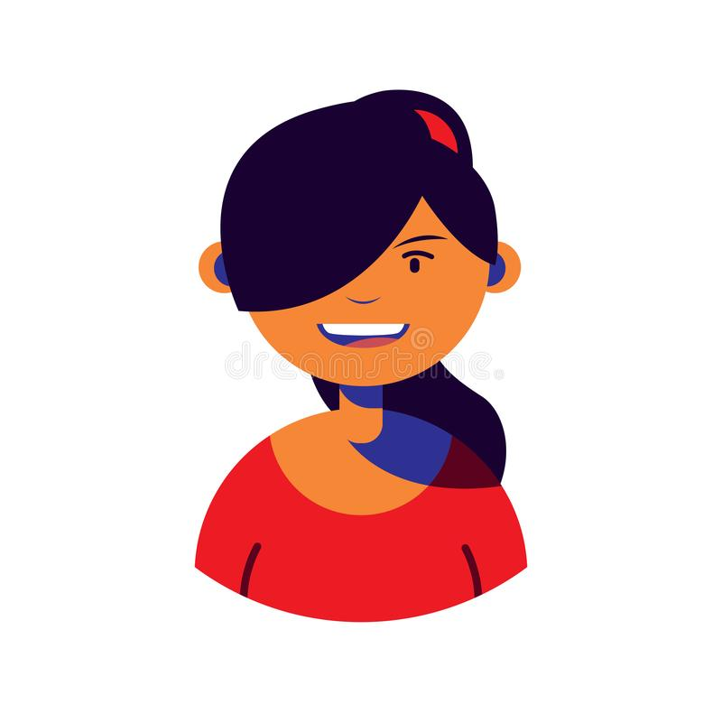 Woman character people flat image. Vector illustration royalty free illustration