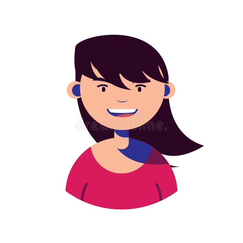 Woman character people flat image. Vector illustration stock illustration