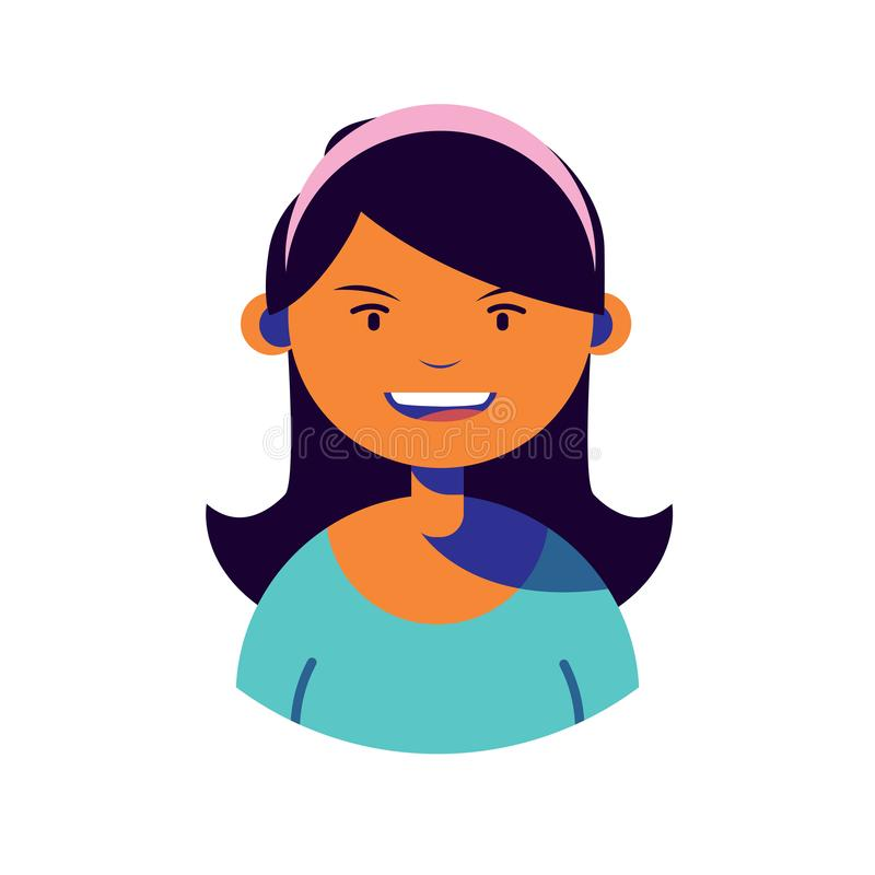 Woman character people flat image. Vector illustration vector illustration
