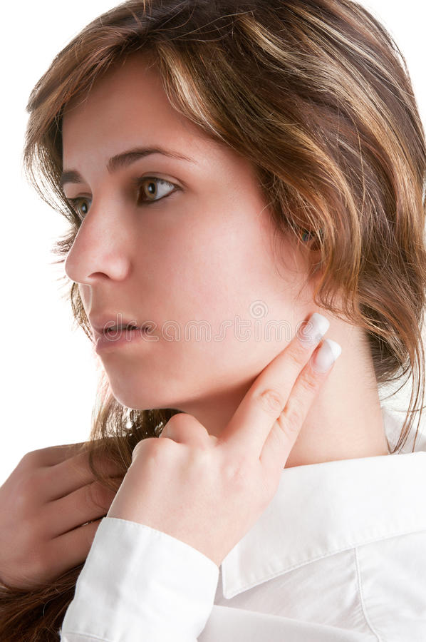 Download Woman Checking Heart Rate Stock Image - Image: 30565691