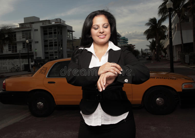 Download Woman checking the time stock photo. Image of businesswoman - 9548134