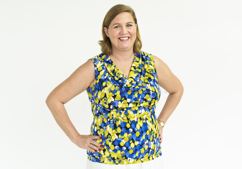 Woman Cheerful Studio Portrait Concept royalty free stock photos