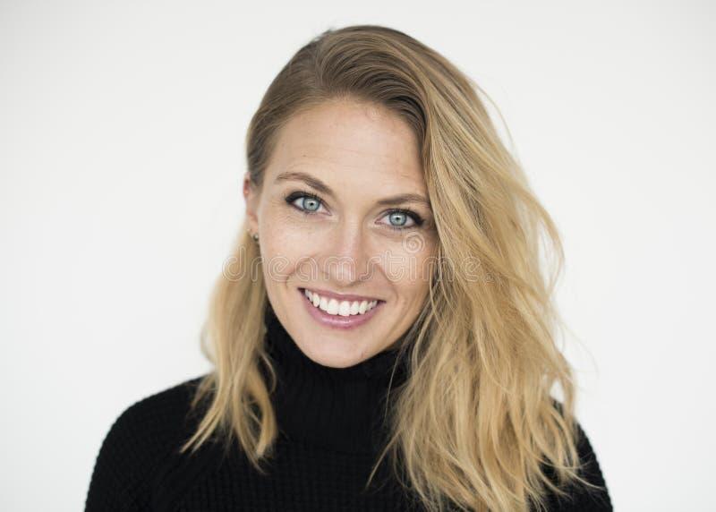 Woman Cheerful Studio Portrait Concept stock photo