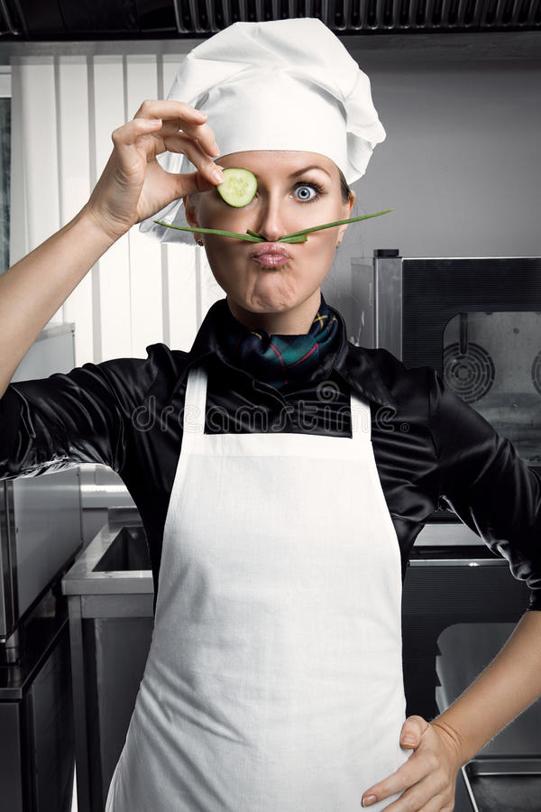 Free Woman Chef Stock Images - 32398844