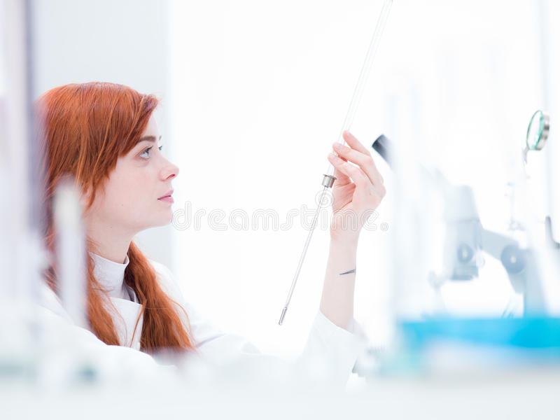 Download Woman in chemistry lab stock image. Image of biochemistry - 31258023