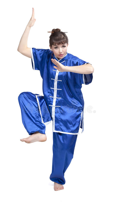 Woman in chinese clothes stock images