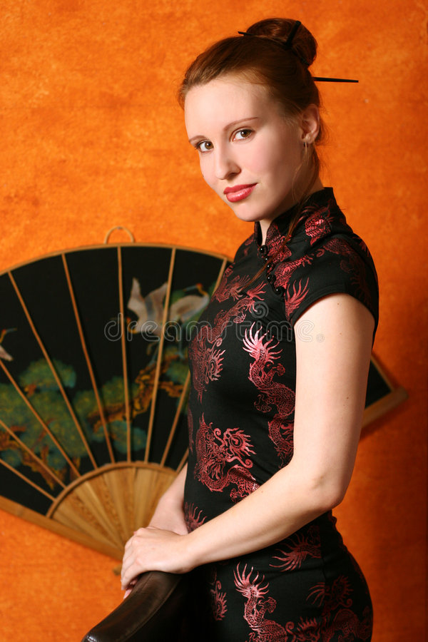 Woman in chinese style royalty free stock image