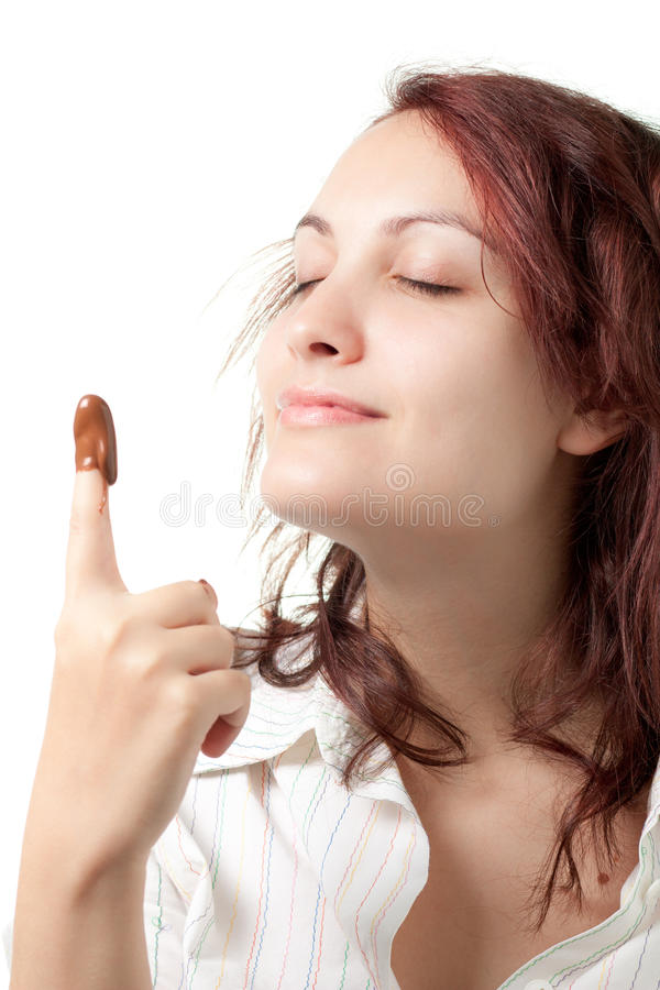 Download Woman With Chocolate Spread Stock Image - Image: 21722531