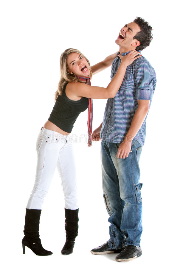 Download Woman choking a man stock photo. Image of fight, girl - 8341418