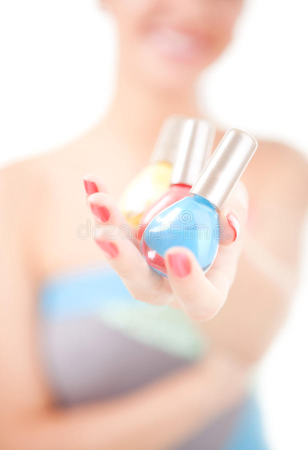 Download Woman Choose The Color Of Nail Polish Stock Photo - Image: 11325284