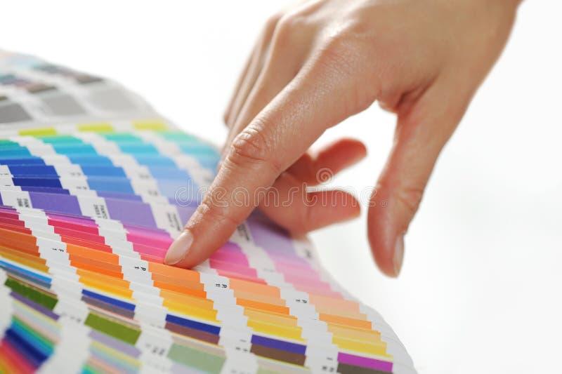 Woman Choosing color
