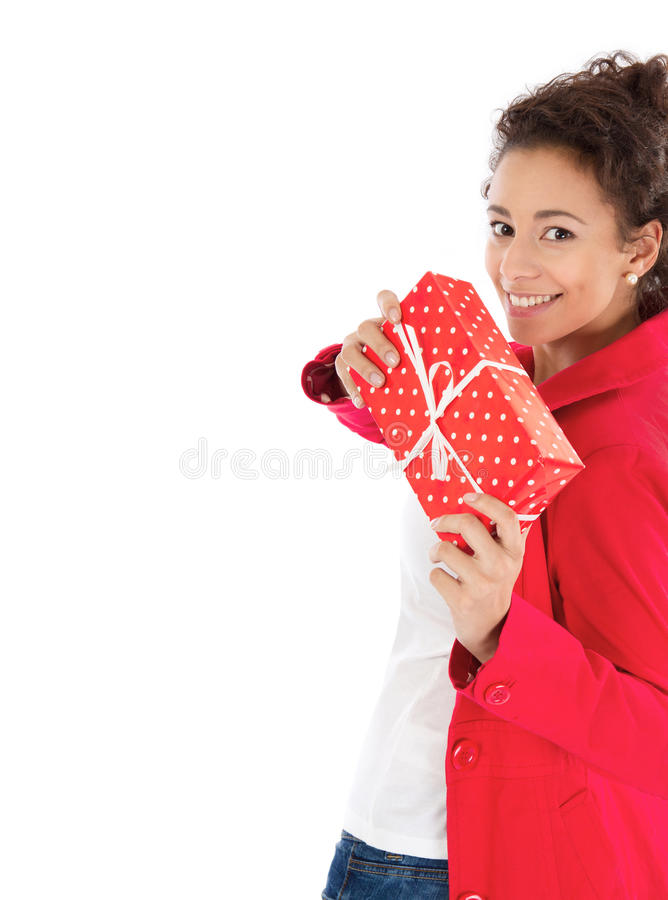 Download Woman with Christmas gift stock photo. Image of anniversary - 35734120