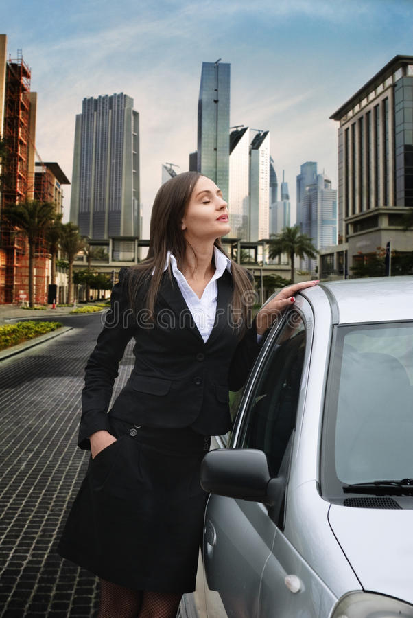 Woman in the city royalty free stock photography