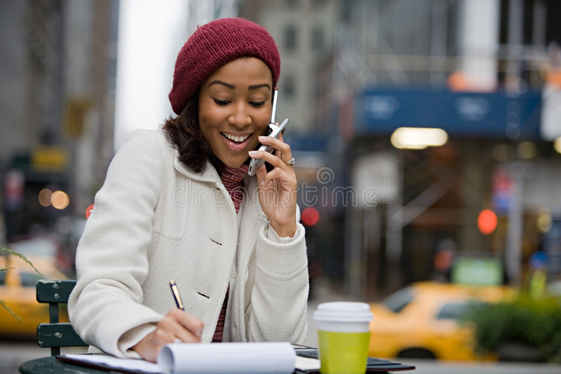 Woman In The City stock images
