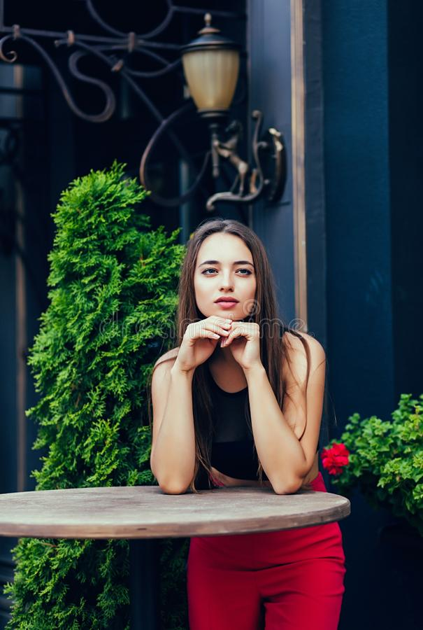 Woman in the city royalty free stock photo