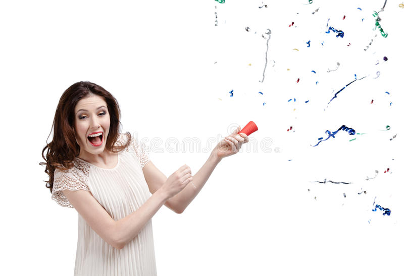 Download Woman claps firecracker stock image. Image of christmas - 26182647