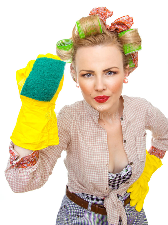 Free Woman Cleaning Royalty Free Stock Photography - 28637877